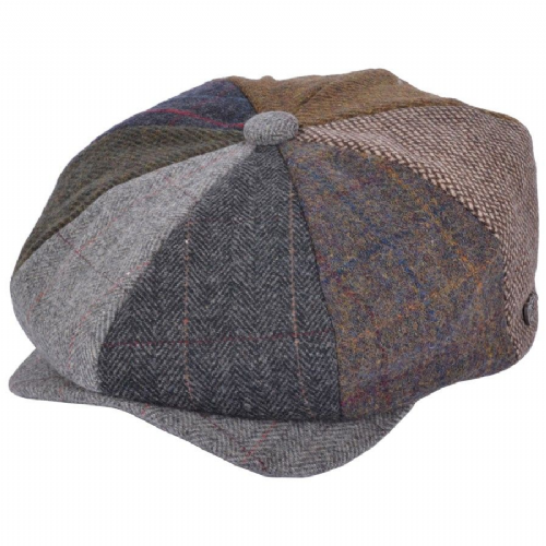Mixed Patch 8-piece Newsboy Cap
